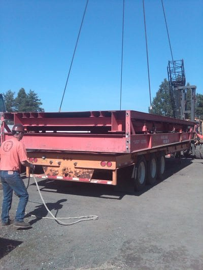 industrial pit scale install