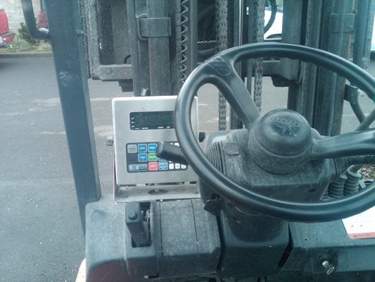 onboard forklift scale