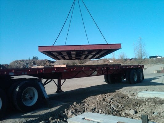 Industrial truck scale install