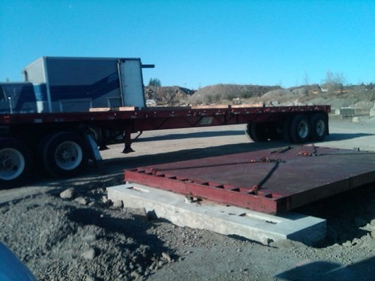 Industrial truck scale